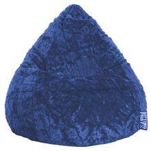 Carryhome SITZSACK Plüsch Blau