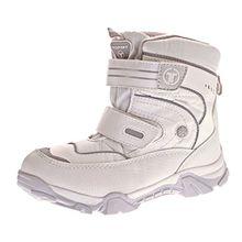 Toplay Damen Schnee Stiefel Winter Schuhe Warm Gefüttert Outdoor Boots Klettverschluss Weiß Grau Gr. 39