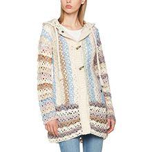 khujo Damen Strickjacke Laddy Chunky Cardingan Knit, Mehrfarbig (Boho A31), 36 (Herstellergröße:S)