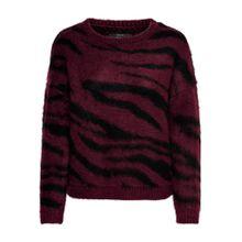 ONLY Pullover 'RANJA'' weinrot / schwarz