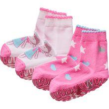 Haussocken Fliesen-Flitzer Glitzer  rosa Mädchen Kleinkinder
