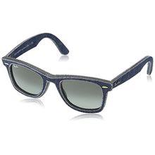 Ray-Ban Unisex Sonnenbrille RB2140, Gr. Medium (Herstellergröße: 50), Mehrfarbig (Gestell: Jeans-blau, Gläser: grau verlauf 116371)