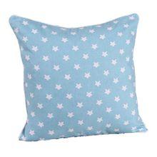 Homescapes dekorative Kissenhülle Stars, hellblau, 45 x 45 cm, Kissenbezug mit Reißverschluss aus 100% reiner Baumwolle