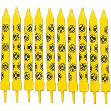 BVB-Geburtstagskerzen schwarz/gelb