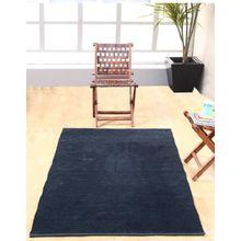 Homescapes waschbarer Chenille Teppich Vorleger 90 x 150 cm aus 100% reiner Baumwolle, Farbe: schwarz, pflegeleicht und strapazierfähig