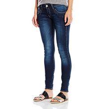 Herrlicher Damen Slim Jeanshose Piper Denim Powerstretch, Gr. W30/L32, Blau (clean 0510)