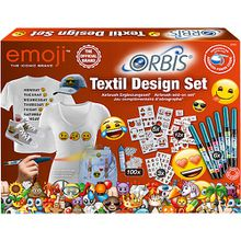 Orbis 30452 Airbrush Textil Design Ergänzungsset Emoji