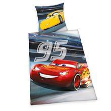 Herding 4429428050 Disney's Cars 3 Bettwäsche-Set, Baumwolle, mehrfarbig, 135 x 200 cm