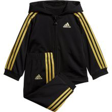 ADIDAS PERFORMANCE Jogginganzug 'Shiny Fzhd' gold / schwarz