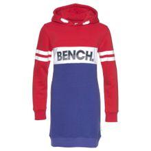 BENCH Sweatkleid blau / rot / schwarz / weiß