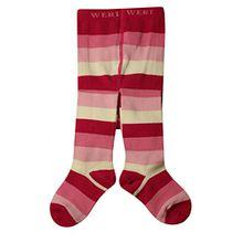 Weri Spezials Unisex-Baby Strumpfhose Block-Ringel Muster in Pink Gr. 92/98 (2-3 Jahre) Elegant und schick!