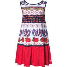 Desigual Kleid mischfarben / weiß