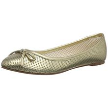 Buffalo London 213-3502 METALLIC SHEEP LEA, Damen Geschlossene Ballerinas, Gold (GOLD 01), 40 EU