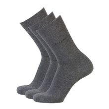 bugatti Basic Mens Socks 3er Pack 6703 620 anthracite anthrazit grau Strumpf Socken, Größe:47-50