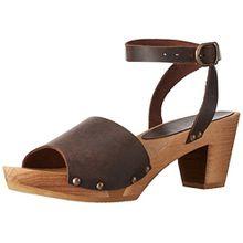 Sanita Yara Square Flex Sandal, Damen Knöchelriemchen Sandalen, Braun (antique brown 78), 38 EU