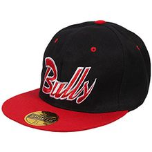 ANN FIXEN Snapback Originals Basecap Hipster Hip Hop Cap Schirmmütze Kappe Baseballcap Baseball Mütze für Damen, Herren und Kinder schwarz BULLS (SNAP-81BULLS)