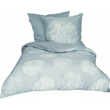 Schöner Wohnen Bettwäsche-Set, 100 Prozent CO, Grau, 200 x 135 cm