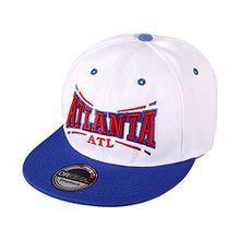 ANN FIXEN Snapback Originals Basecap Hipster Hip Hop Cap Schirmmütze Kappe Baseballcap Baseball Mütze für Damen, Herren und Kinder weiß ATLANTA (SNAP-46ATL)