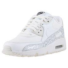 Nike , Mädchen Sneaker weiß Summit White/Black/Metallic Silver/Summit White, Gr. 37,5 (4.5UK)