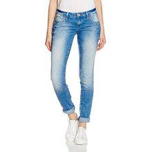 Mavi Damen Slim Jeans (Schmales Bein) Lindy, Blau (True-Blue Barcelona Str 22997), W27/L34 (Herstellergröße: 27/34)