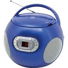 CD Spieler mit Hörbuchfunktion und UKW-Radio blau