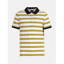 GUESS Shirt kobaltblau / gelb / weiß