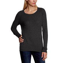 VERO MODA Damen Pullover FOREVER LS O-NECK BLOUSE NOOS, Einfarbig, Gr. 40 (Herstellergröße: L), Schwarz (Black C-N10)