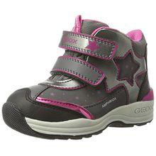 Geox Baby Mädchen B New Gulp Girl B ABX C Hohe Sneaker, Grau (Grey/Cyclamen), 24 EU