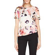 GERRY WEBER Damen T-Shirt 1/2 Arm, Mehrfarbig (Rosa/Melone Druck 3107), 46