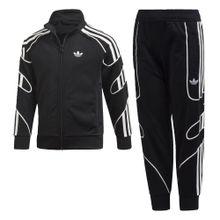 ADIDAS ORIGINALS Trainingsanzug 'Flamestrike' schwarz / weiß