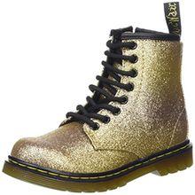 Dr. Martens Unisex-Kinder Delaney GLTR Gold Multi Glitter PU Stiefel, Gold (Gold Multi), 34 EU