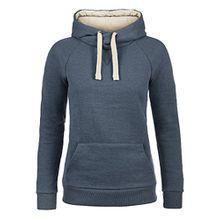 Blend She Julia Damen Damen Hoodie Kapuzenpullover Pullover Mit Kapuze Und Cross-Over-Kragen, Größe:S, Farbe:Navy (70230)