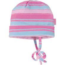Topfmütze zum Binden  lila Mädchen Baby