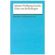 Buch - Lektüreschlüssel Johann Wolfgang von Goethe 'Götz von Berlichingen'