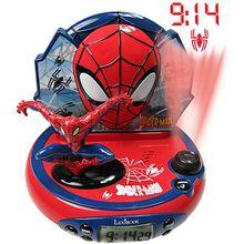 Spider-Man Radiowecker mit Projektion und Nachtlicht rot