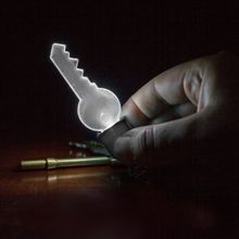 Leuchtender Schlüsselanhänger 2D Light Bulb Key Chain