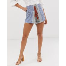 Glamorous - Shorts mit Bordürenmuster - Mehrfarbig