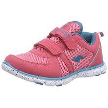 KangaROOS Nara, Mädchen Sneakers, Pink (Salmon/dk Smaragd 684), 36 EU