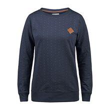 Blend She Polly Damen Sweatshirt Pullover Sweater Mit Rundhalsausschnitt, Größe:M, Farbe:Mood Indigo (20064)
