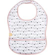 Lätzchen mit Auffangtasche EVA Little Chums Mouse light pink