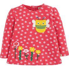 Baby Langarmshirt CONNIE mit Applikation , Organic Cotton pink Mädchen Kinder