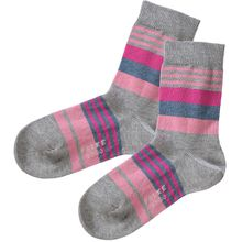 FALKE Kinder Socken gestreift hellgrau Mädchen