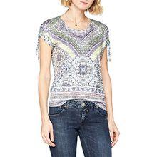 GERRY WEBER Damen Bluse T-Shirt 1/2 Arm, Mehrfarbig (Grün/Blau Druck 5088), 44