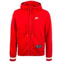 Nike Sportswear Air Fleece Kapuzenjacke Herren rot/weiß Herren
