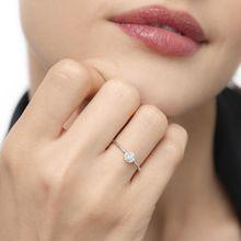 Verlobungsring Pave II in Weissgold mit Diamanten