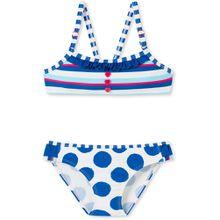 Schiesser Bustier Bikini - Streifen und Punkte