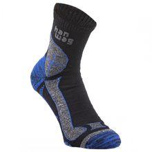 Hanwag - Hanwag Trek-Merino Socke - Wandersocken Gr 36-38;39-41;42-44;45-47 schwarz/grau/blau