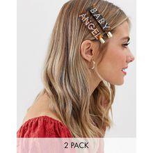 Glamorous - Haarclip mit Engel- und Baby-Design aus Kunstharz und Strass - Mehrfarbig