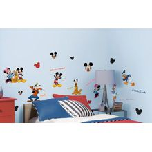 RoomMates Wandsticker Disney Mickey Mouse & Friends, 30-tlg. mehrfarbig