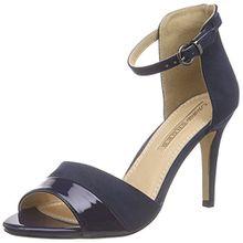 Buffalo Shoes 312339 IMI Suede Pat PU, Damen Knöchelriemchen Sandalen, Blau (Navy 10), 37 EU